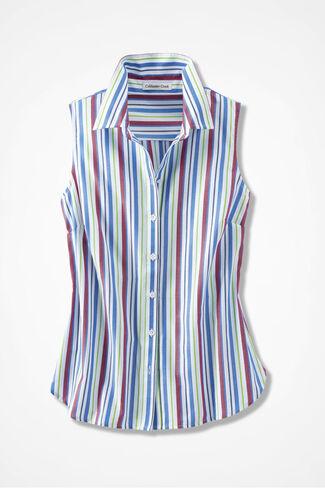 Cabana Stripe Easy Care Shirt, White Multi, large