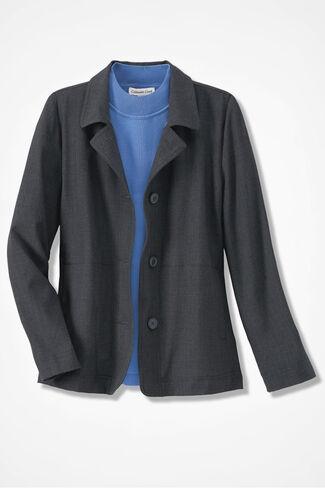 Go-To Bi-Stretch Jacket, Heather Grey, large