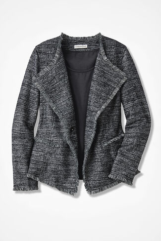 Fringed Finesse Crossover  Jacket, Black Multi, large