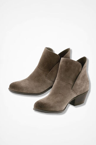 """Zena"" Suede Boots by Adam Tucker, Nutmeg, large"