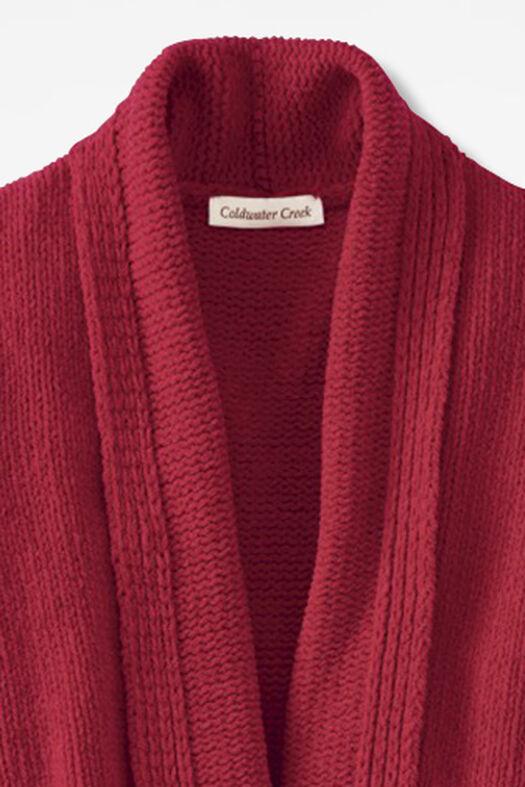 Fireside Chenille Robe, Dover Red, large