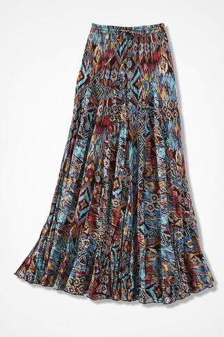 Painted Desert Crinkled Skirt, Multi, large