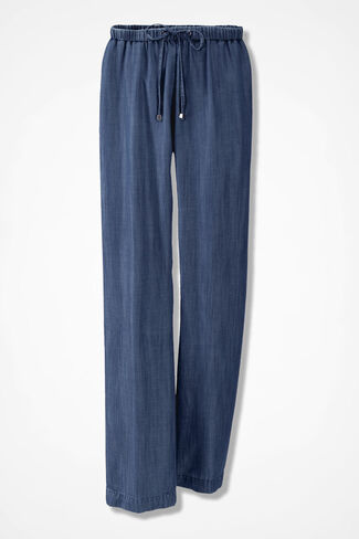 Relaxed Tencel® Soft Pants, Medium Blue Wash, large