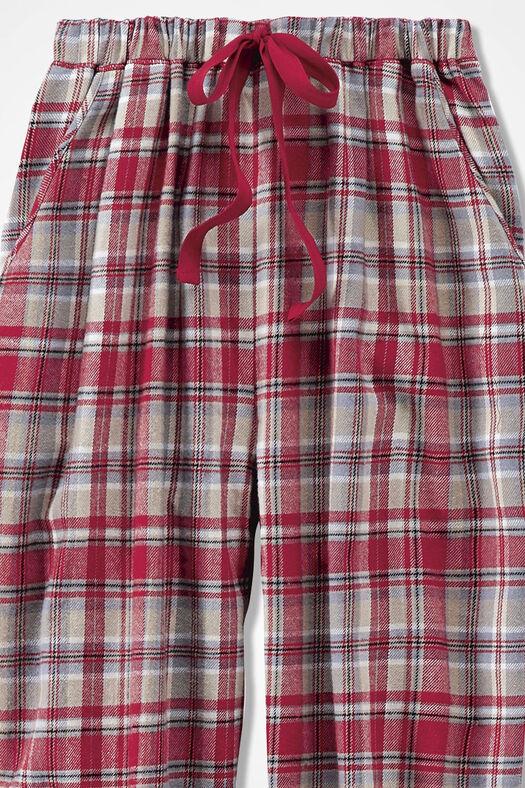 Plaid Flannel PJ Pants, Dover Red, large