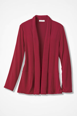 Destinations Shaped Cardigan Jacket, Dover Red, large