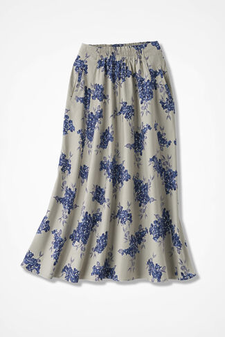 Garden Walk Linen Skirt, Flax, large