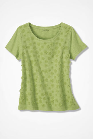 Showers of Flowers Tee, Willow Green, large