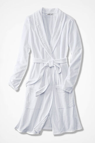 Time for Terry Robe, White, large