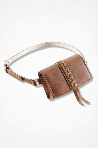 Carefree Rambler Adjustable Belt Bag, Saddle, large