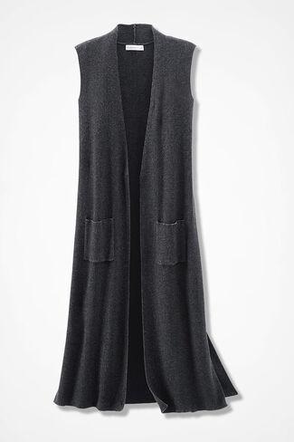 Hidden Hue Duster Sweater, Black, large