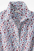 Festive Floral Easy Care Shirt, Fresh Red, large