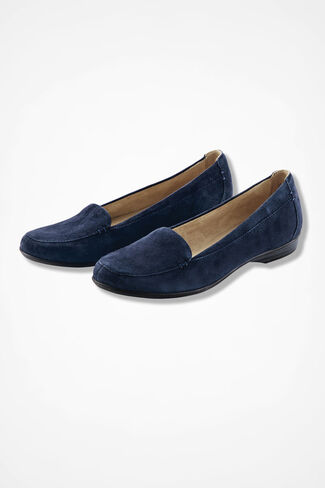 """Saban"" Suede Flats by Naturalizer®, Navy, large"