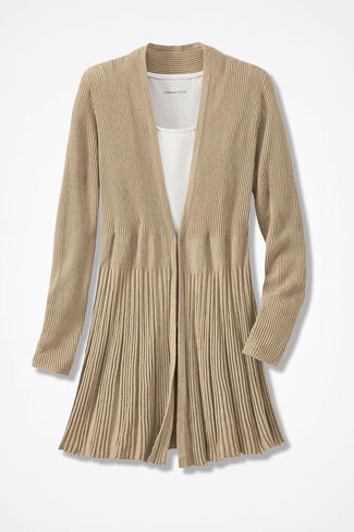 Misty Mountain Cardigan Sweater, Light Camel Heather, large