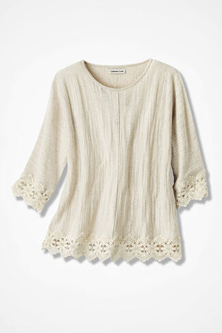 Lace Encounter Sweater, Natural, large