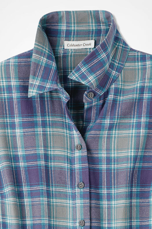 Northcountry Flannel Shirt, Thistle, large