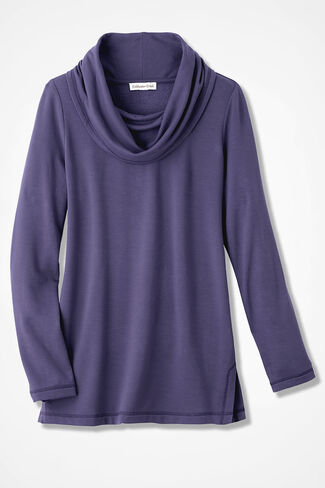 Superbly Soft Fleece Cowlneck, Deep Thistle, large