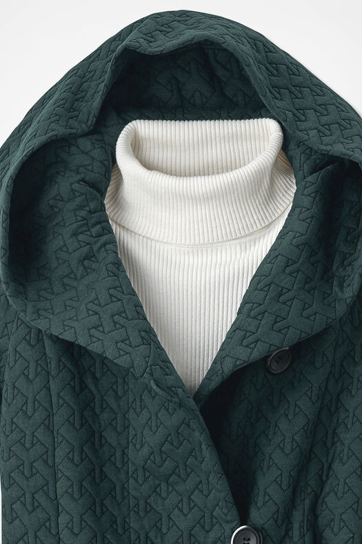 First Frost Textured Knit Coat, Jade, large