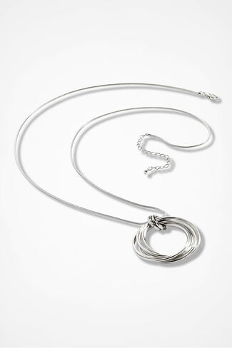 Endless Circles Necklace, Silver, large