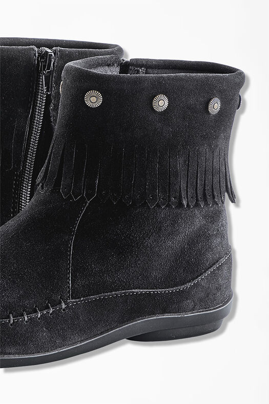 """Free Spirit"" Suede Boots by Walk With Me™, Black, large"