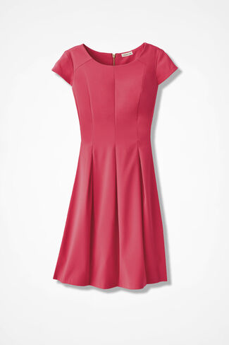 The Great Gabardine Dress, Coral, large