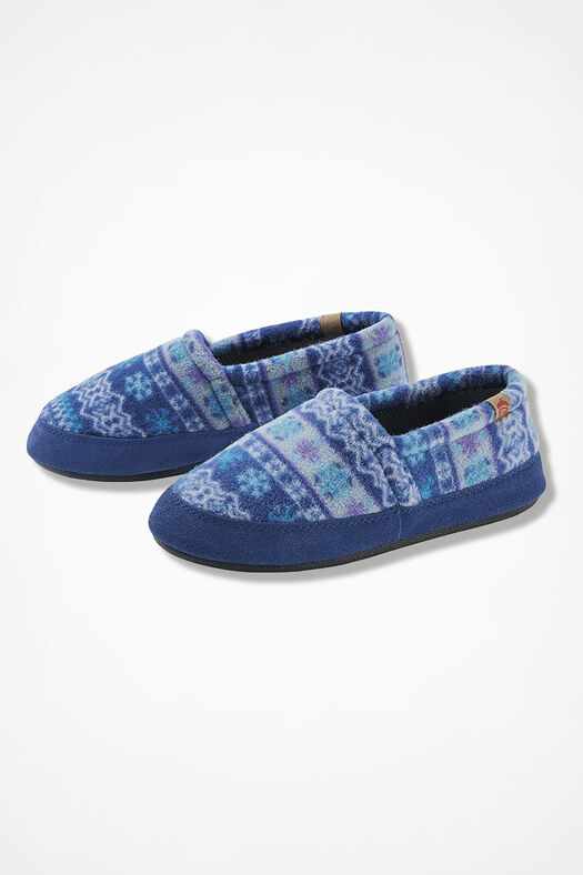 """Acorn Moc"" Slippers by Acorn®, Blue Multi, large"