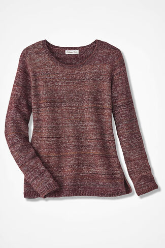 Mixed Tones Sweater, Brown Multi, large