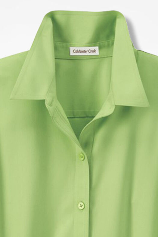 Three-Quarter Sleeve Easy Care Shirt, Bright Peridot, large