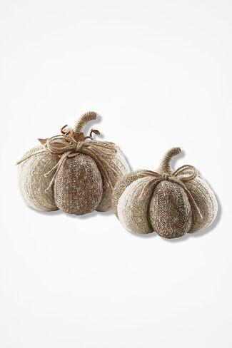 Sweaterknit Pumpkin Set, Natural, large
