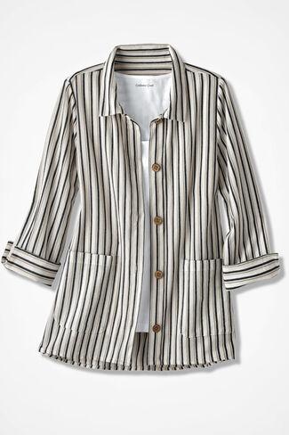 NEW Weekend Wander Shirt Jacket, Ivory, large