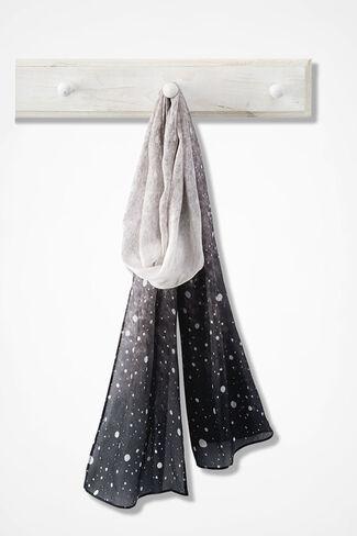 Stargazer Silk Scarf, Black Multi, large