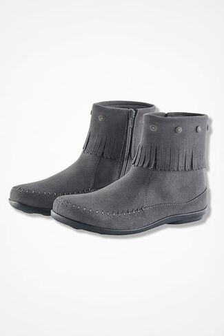 """""""Free Spirit"""" Suede Boots by Walk With Me™, Grey, large"""