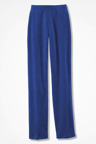 Velour du Jour Straight-Leg Pants, Sapphire, large