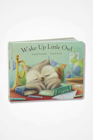 "The ""Wake Up Little Owl"" Book by Jellycat®, Multi, large"