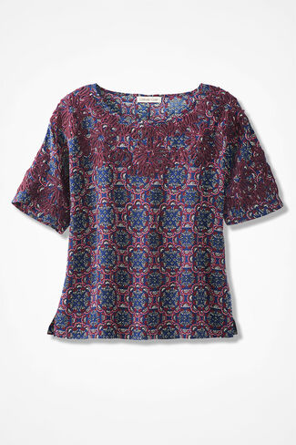In-Harmony Soutache Blouse, Navy Multi, large