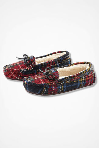 """Horizon"" Moccasins by Walk With Me™, Red Multi, large"