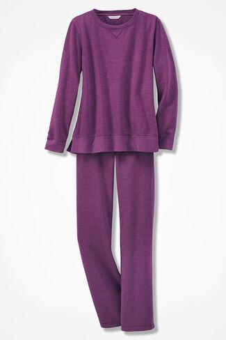 Leisuretime Fleece Pullover Set, Currant, large