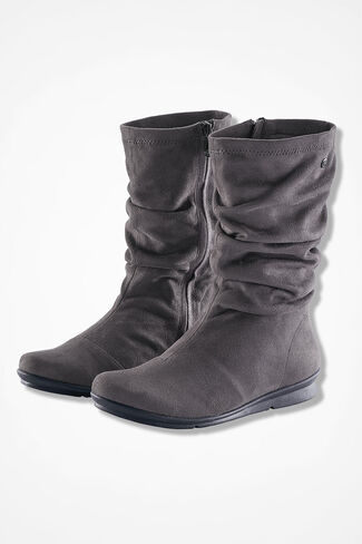 """Cage"" Microfiber Boots by Bussola®, Grey, large"