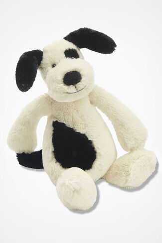 """Bashful"" Puppy by Jellycat®, Black/White, large"
