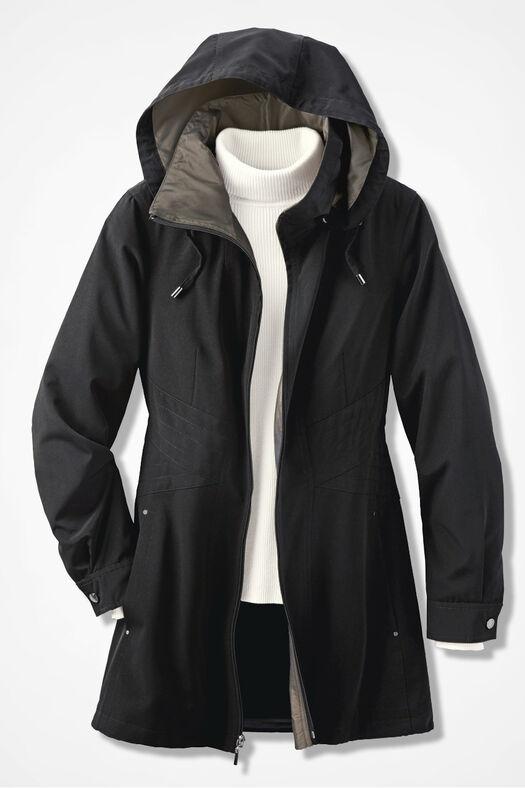 Three-Season Raincoat, Black, large