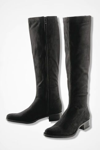 """""""Scout"""" Waterproof Faux Suede Boots by Bussola®, Black, large"""