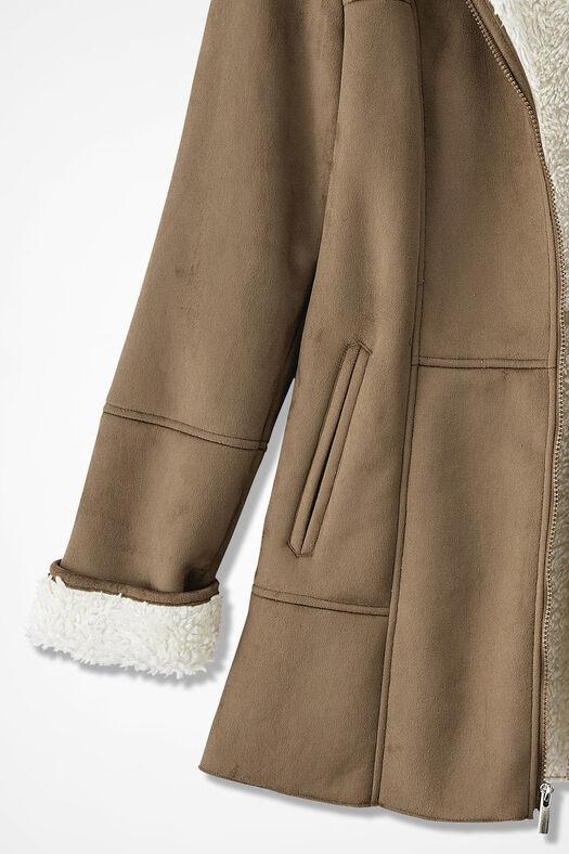 Wild Prairie Faux Shearling Coat, Tan, large