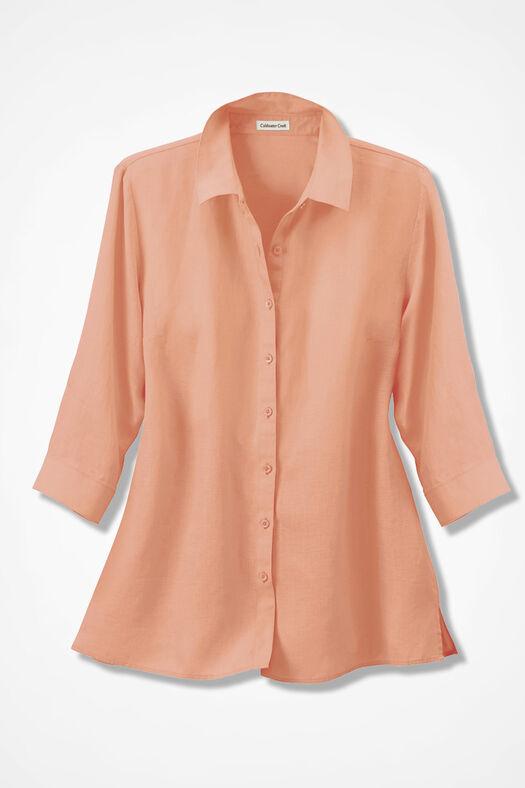 Linen Big Shirt, Sunset, large