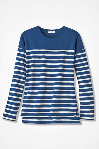 Striped-a-Lot Tee, Lapis, large