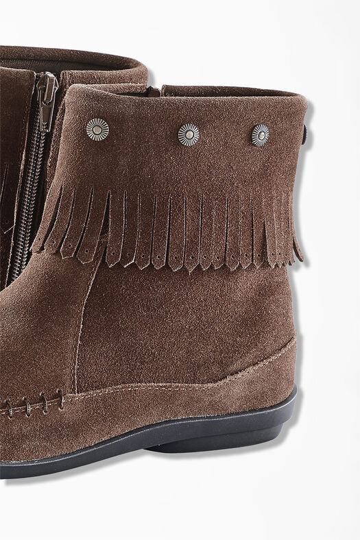 """Free Spirit"" Suede Boots by Walk With Me™, Brown, large"