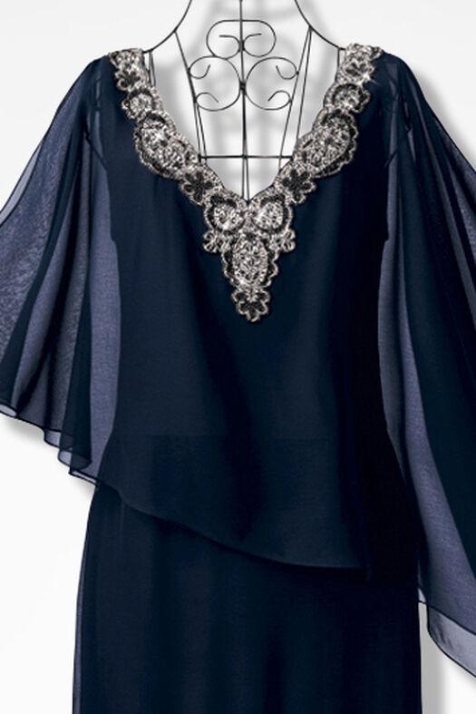 Asymmetrical Capelet Dress by JKara™ - Coldwater Creek