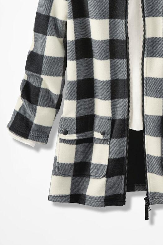 Buffalo Check Polar Fleece Coat, Black Multi, large
