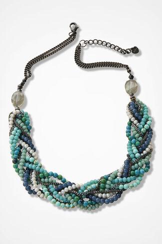Blue Harmony Necklace, Blue Multi, large