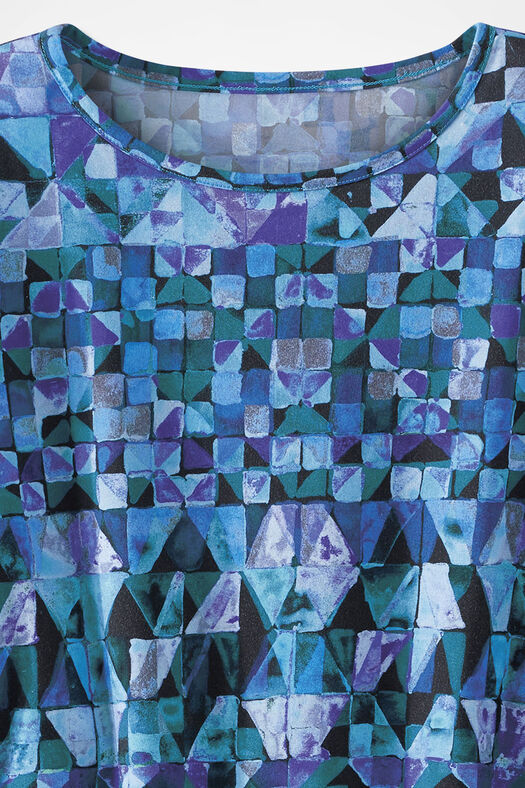 Modern Mosaic Tee, Blue Multi, large