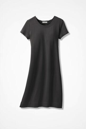 French Terry Capri Dress, Black, large
