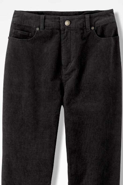 Pinwale Stretch Corduroys, Black, large